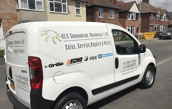 Our New KLS Groundcare Machinery Service & Delivery Van